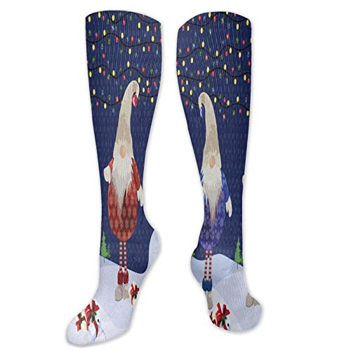 Christmas Santa Claus Stocks Men's Women's Breathable Crew Socks Wild Thin Leg Warmers