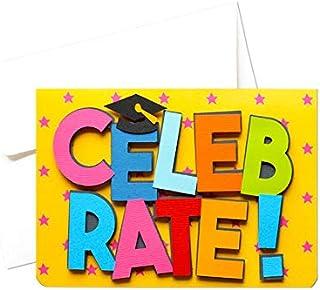 Celebrate - Laurea - congratulazioni - biglietto d'auguri (formato 10,5 x 15 cm) - vuoto all'interno, ideale per il tuo me...