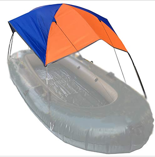Ship and Land Dual-Purpose Sunshade Windproof Tent Foldable Kayak Awning Rubber Boat Shed Inflatable Boat Tent for 2 to 3 People