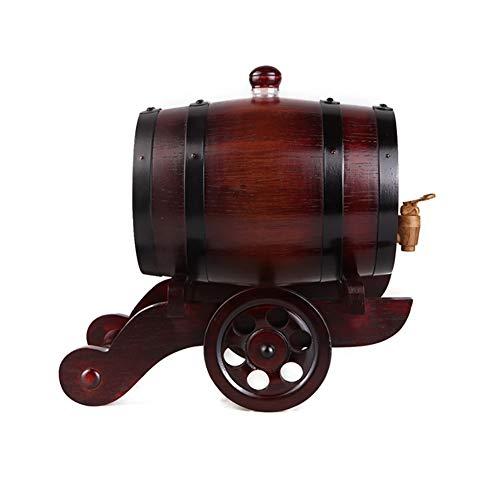 Eiken Wijnvat 3L Eiken Vat Houten Veroudering Vat Gebruikt om op te slaan of Veroudering whisky, bier, wijn, bourbon, cognac, hete saus, enz Whiskey Beer Wine