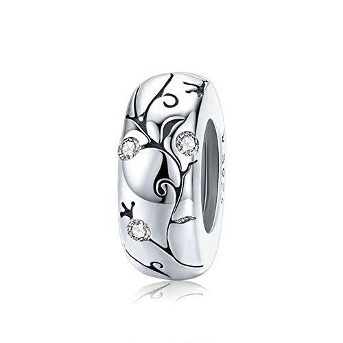 JiaRong Charms fit Pandora Charm Bracelet plata