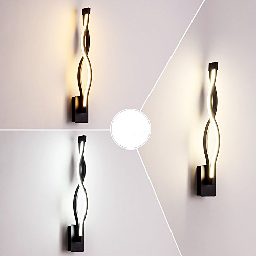 Creative Led moderne minimaliste mur de chevet chambre à coucher Lampe lumière escalier Couloir Couloir Art noir,lampe,47 * 6.5Cm gradateur de lumière 3-couleurs