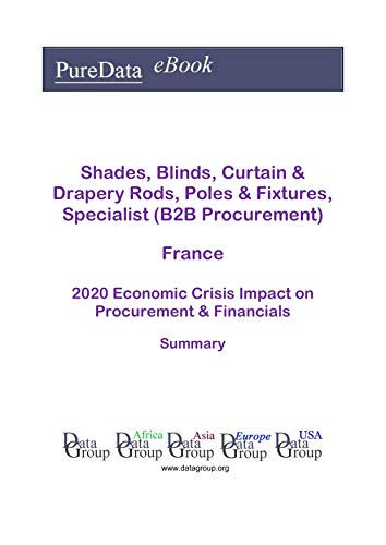 Shades, Blinds, Curtain & Drapery Rods, Poles & Fixtures, Specialist (B2B Procurement) France Summary: 2020 Economic Crisis Impact on Revenues & Financials (English Edition)