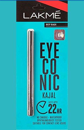 Top Zone Lakme Eyeconic Kajal, Deep Black, 0.35 G