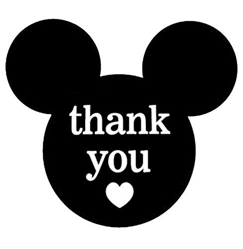 Mickey Minnie Mouse Thank You Stickers 2.25 x 2 Inch - 520 Mickey Mouse Ears Stickers Thank You Labels for Birthday Baby Shower Party Thank You Cards Envelope Seals Labels & Maling Supplies