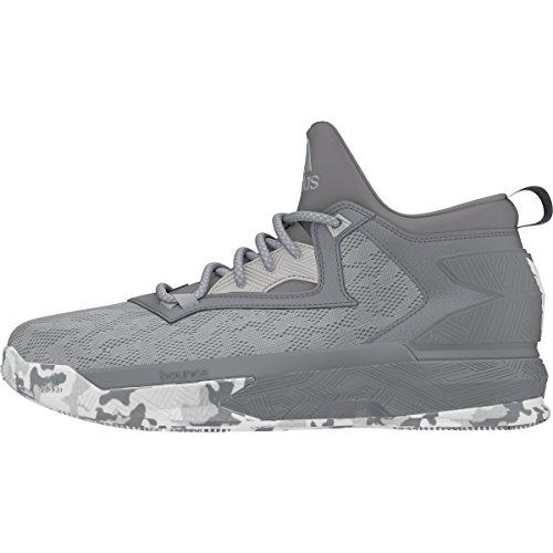 adidas D Lillard 2 Mens Basketball Shoe 8.5 Clear Onix/Grey/White