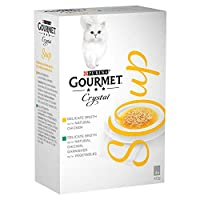 Delicate broth made with natural chicken and with natural chicken, garnished with vegetables Complementary pet food for adult cats – feed in addition to complete pet food Cooked with care for preservation of taste Served in 40g pouch to keep every me...