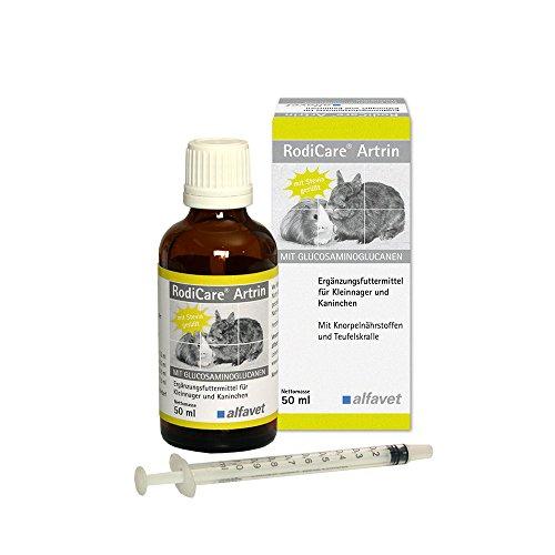 RodiCareArtrin Einheit: 50ml Ergänzungsfuttermittel für Kaninchen, Meerschweinchen und Kleinnager Mit Knorpelnährstoffen und Teufelskralle