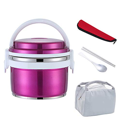 Vacuüm Thermische Isolatie Dichte RVS Lunch Box, Set Portable Kids School Bento Box Thermos Voedsel Container