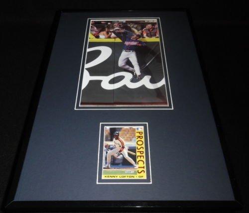 Kenny Lofton Framed ORIGINAL 1992 Fleer Rookie Card & Photo Set Indians