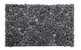LucaHome - Felpudo Natural 100% de Piedra rústica Negra...