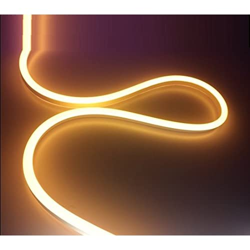 AtneP Long Neon Flex Flexible Frosted Light (Warm White Colour, 5 Meter)