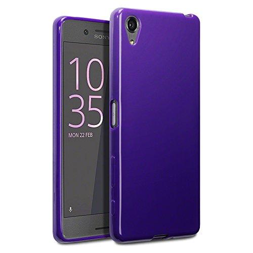 TERRAPIN Coque Xperia X, Étui Coque en Gel TPU pour Sony Xperia X Cover - Solide Violet