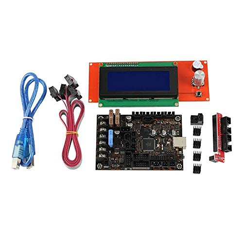 SongMyao Led Makeup Mirror Reprap Prusa i3 MK3/3S Part 1.1b Mainboard + 2004 LCD Display Kit with Heatsink & Cables for 3D Printer (Color : Red, Size : One size)