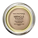 Max Factor Miracle Touch, Fondotinta Coprente con Acido Ialuronico, 075 Golden, 12 ml