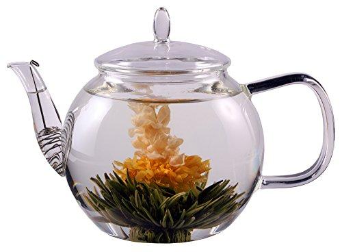 Feelino PREISHAMMER: 1300ml Tee- und Kaffeekanne mit Sieb im Auslauf und Glasdeckel, ideal für 2 Personen, Special Edition spülmaschinengeeignet, hitzebeständig, hochwertiges Borosilikatglas …