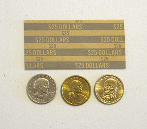 AirGarden – 200 Coin Wrappers for Presidential Dollars, SACAGAWEA Dollar & Susan B. Anthony