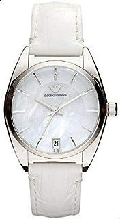 ساعة يد كوارتز للنساء من امبوريو ارماني، بعرض انالوج وحزام جلدي AR0377