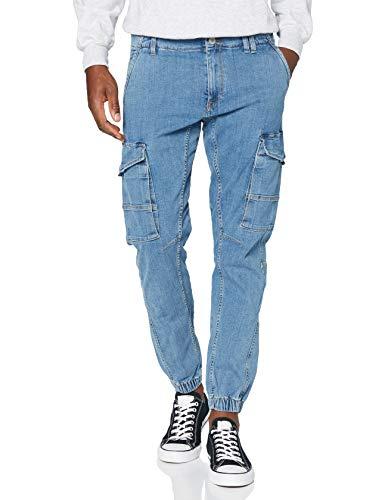 JACK & JONES JJIPAUL JJFLAKE AKM 885 STS Jeans, Blue Denim, 32/34 Uomo