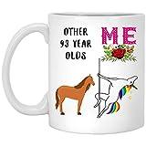 Regalo de 93 años para mujer nacida en 1924, regalo de 93 años para ella, divertida taza...