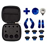 Metal Plating Thumbsticks for Elite Series 2, D-Pads Kits, 4 Paddles Hair Trigger Buttons (Mini & Medium) Replacement for Xbox One Elite Series 2 Controller -Chrome Blue