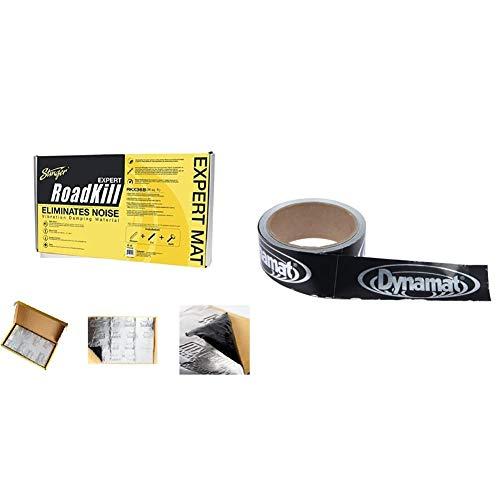 Stinger RKX36B Roadkill Expert Series Sound Damping Material Bulk Pack (Silver) & Dynamat 13100 Dynatape 1-1/2in x 30ft