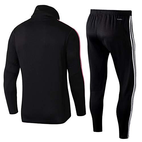 Fan Shirts Neue Saison Erwachsene langärmelige Männer Männer Fußball Sportbekleidung Trainingskleidung, kann mit jedem Namen und jeder Nummer angepasst Werden, geeignet für Juventus-Fans-L-Pink
