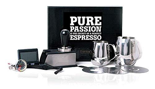 Expobar   Barista Kit   Erstaustattung Set für Espressomaschine   Tamper Pitcher Tamperstation Shot Timer Thermometer
