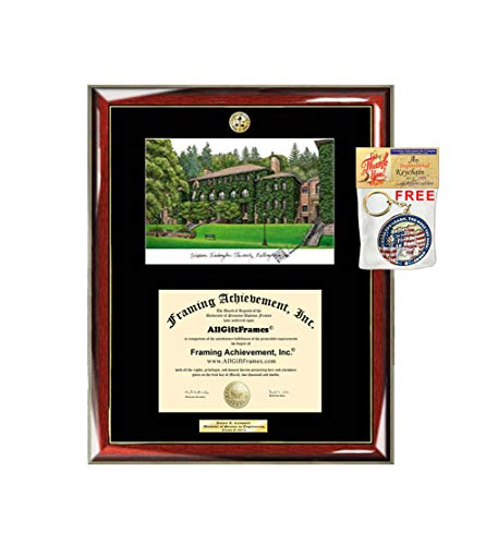 Western Washington University Diploma Frame WWU School Lithograph Major Logo Degree Display Graduation Gift Plaque Document Holder Certificate Case Frames