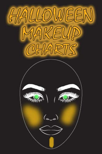 Halloween Makeup Charts: Blank oval faces