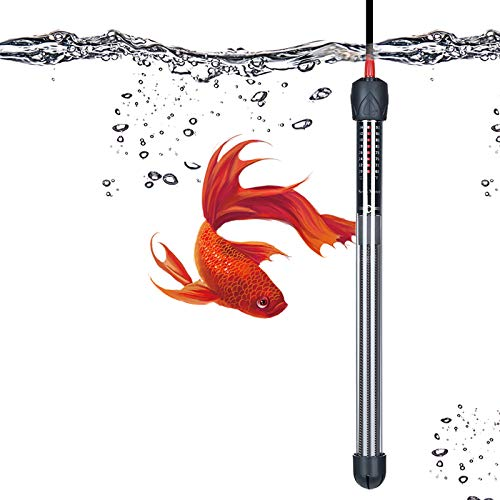 Seven Master Submersible Aquarium Heater,Explosion-Proof Heating Rod,Adjustable Temperature with Suction Cups,Energy Efficient Submersible Thermostat (300W)