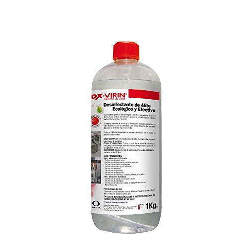 OX-VIRIN Desinfectante Liquido Ox-Virin, Con Tapón, 1 Litro, Ecologico