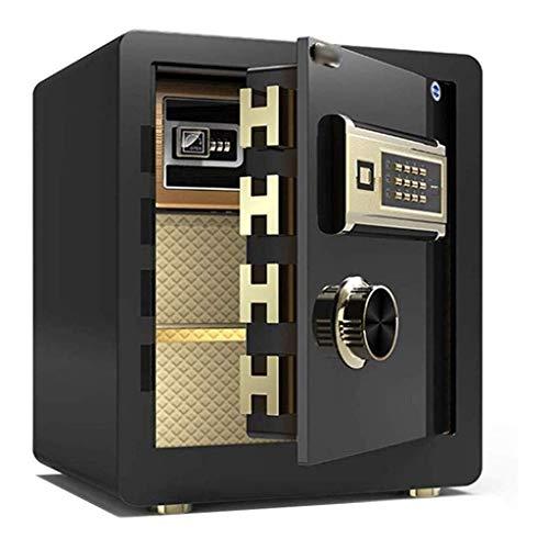 Große Safes, 45 cm elektronischer digitaler Hochsicherheitssafe aus Stahl, Schlafzimmer, Fingerabdruck-Tresorsafe, Geldkassette, Büro, privater Aktenschrank, feuerfester Schließfachschlüssel