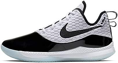 Nike Men's Lebron Witness II PRM Basketball Shoes (White/Black-Half Blue, 7.5)