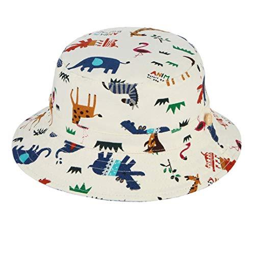 AROVON Nette Karikatur-Tiermuster-Eimer-Hut für die Baby-Kinderkappen-Sommer-Strand Sun-Kappen-Kinder, die Eimer-Hut fischen