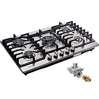 30 Inch Gas Cooktop LPG/NG Convertible Gas Burner Stainless Steel Gas Hob Built-In Gas Cooktop DM527-SA05 Gas Stovetop