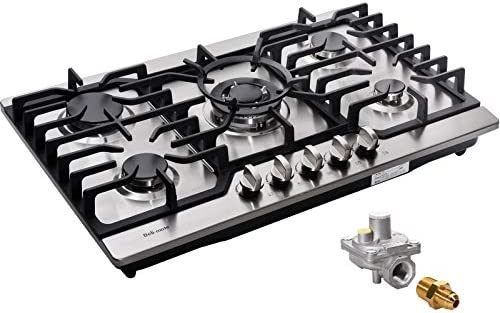 30 Inch Gas Cooktop LPG NG Convertible Gas Burner Stainless Steel Gas Hob Built In Gas Cooktop product image