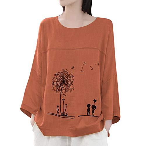 TEFIIR Damen Pullover Drucken Langarm Rundhals T-Shirt Beiläufig Sweatshirt Lose Tops Mode 2019 Geeignet für Freizeit, Dating und Urlaub