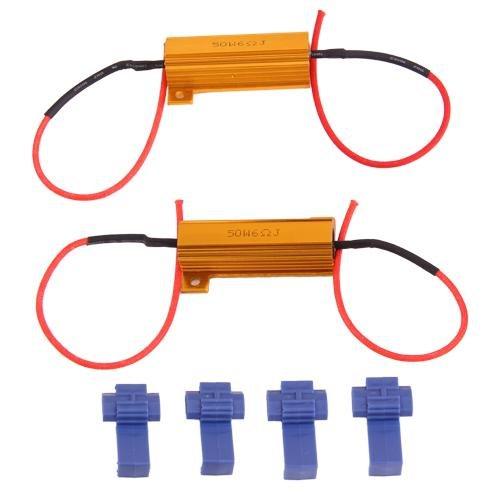 Ecloud Shop® 3 Pieces Lot de 2 Résistance 50W 6ohm pour Clignotant LED DC 12V