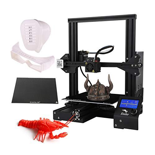 Stampante 3D Professionali,Ender-3X Stampa di ± 0,1mm Stampante 3D Fai-da-te ad Alta Precisione Aggiornata Autoassemblabile 220x220x250mm