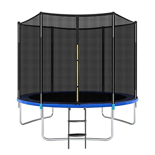 Beauty Kate Trampolines 10FT Jump Outdoor Trampoline for Kids, Adults Trampoline with Enclosure Net, Spring Pad, Ladder - Combo Bounce