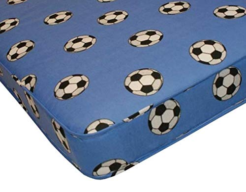 The eXtreme Comfort - Kids Budget Spring Mattress 6' Deep. Ideal Bunk Bed Mattress (3ft Single Mattress, Blue Football)