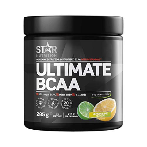 Star Nutrition | Ultimate BCAA Powder | BCAAS Amino Acids 4 1 1 Free of Carbs & Sugar Suitable for Vegans | Lemon & Lime Flavor | 285 Gr