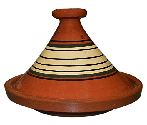 Moroccan Cooking Tagine Handmade Lead Free Safe Glazed Large 12 inches Across Traditional