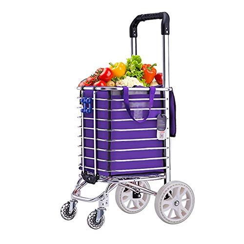 NYDZDM Kar kleine winkelwagen huis winkelwagen inklapbaar licht draagbare oude man trolley trolley cart trailer