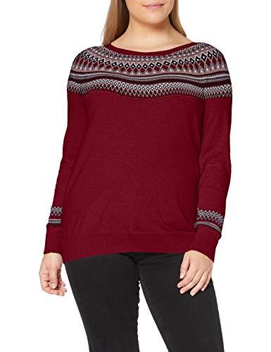 ESPRIT Damen 090EE1I336 Pullover, 603/BORDEAUX RED 4, M