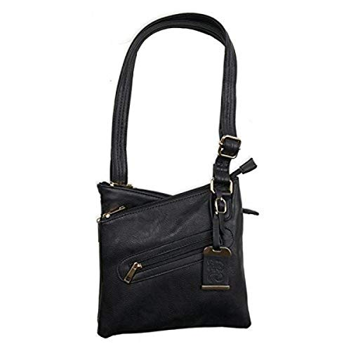 Bulldog Cases Small Crossbody Concealed Carry Purse Black, 9.5' x 9.5' x 1.5'