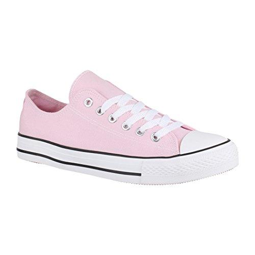 Elara Damen Herren Sneaker sportlich Chunkyrayan BenkeyB XG200 Pink-39