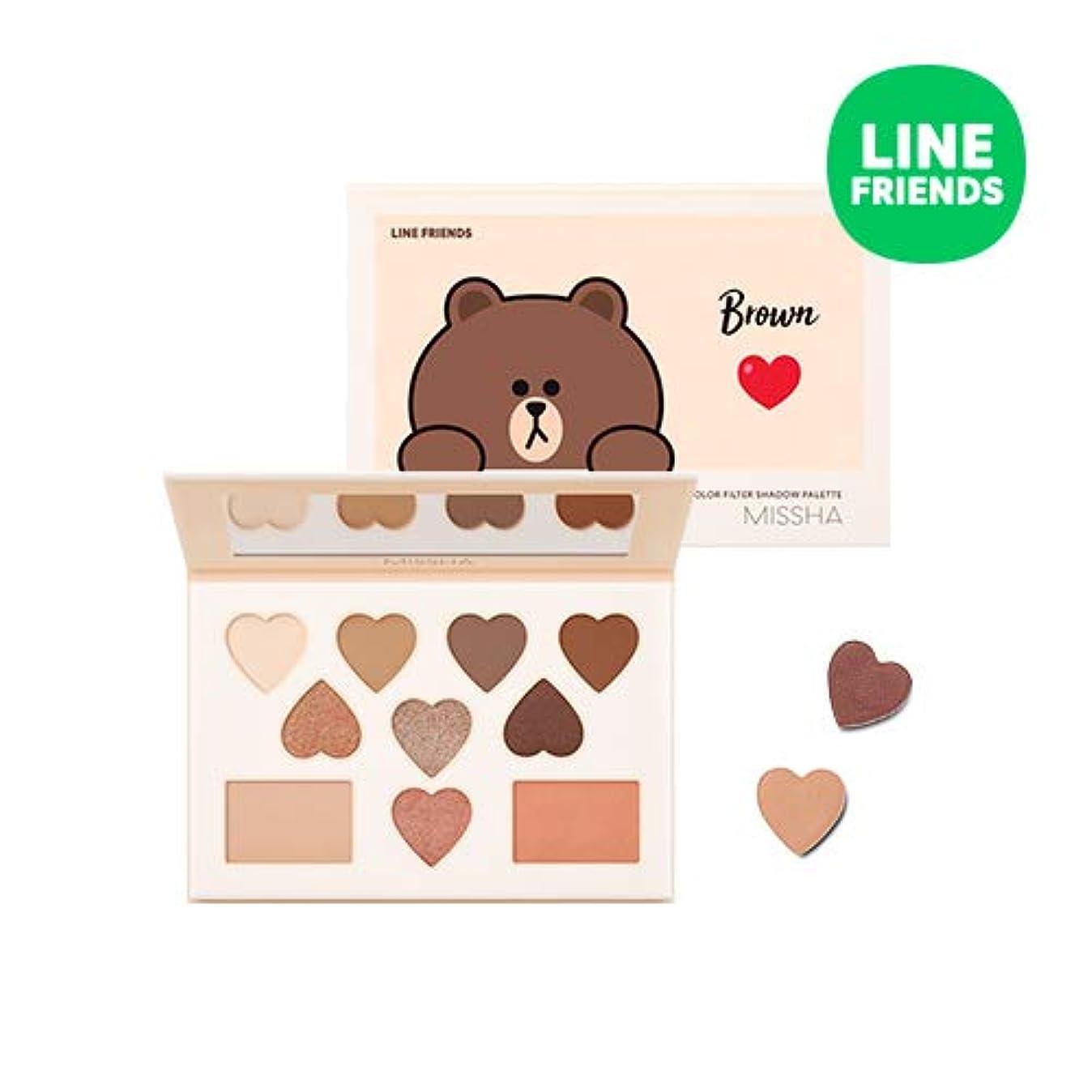 マティス情報妻ミシャ[ラインフレンズエディション] カラー フィルター シャドウ パレット MISSHA [Line Friends Edition] Color Filter Shadow Palette #5. Brown [並行輸入品]