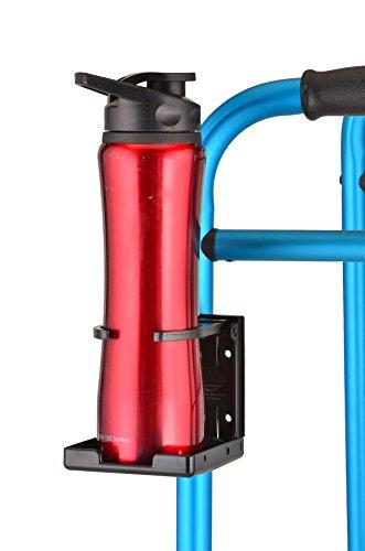 NOVA Cup Holder for Walker, Rollator, Transport Chair, Wheelchairs – Universal Fit, Adjustable & Foldable Drink Holder